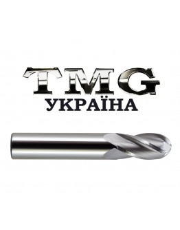 Double flutes ball nose end mill 6X32X60