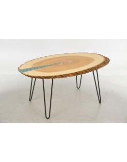 Кофейный, журнальный стол из эпоксидной смолы и дерева
