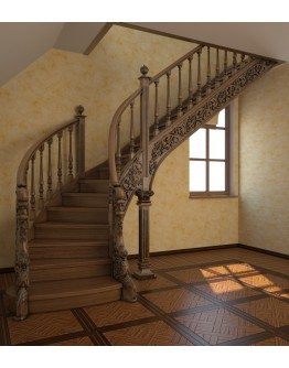 3D Модель лестница.